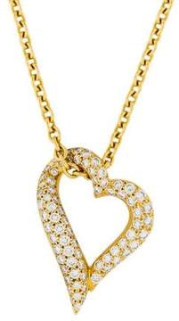 Boucheron 18K Diamond Heart Pendant Necklace