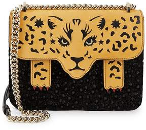 Charlotte Olympia Women's Fierce Belafonte Leopard Crossbody Bag