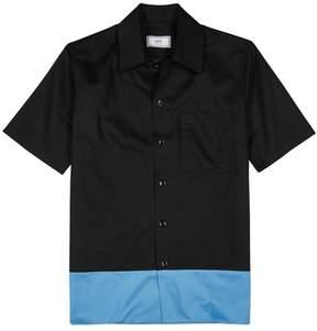 Ami Black Colour-block Twill Shirt
