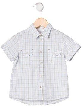 Tartine et Chocolat Boys' Plaid Button-Up Shirt