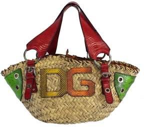 Dolce & Gabbana MultiColor Snakeskin & Wicker Bag - MULTI - STYLE