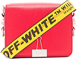 OFF-WHITE Flap Bag in Red.