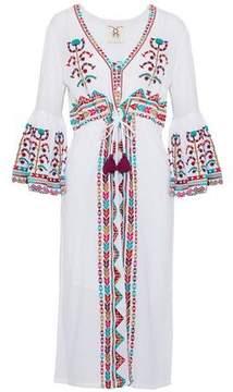 Figue Embroidered Cotton-Gauze Midi Dress