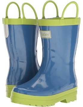 Hatley Blue Green Rain Boots Boys Shoes