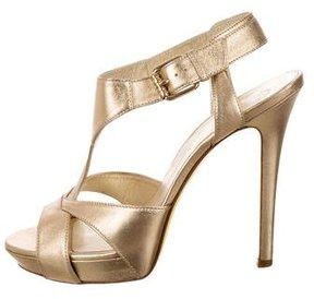 Versace Metallic Cutout Sandals