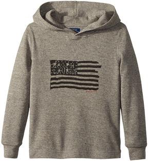 Polo Ralph Lauren Waffle-Knit Cotton Hoodie Boy's Sweatshirt