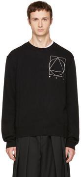 McQ Black Glyph Logo Crewneck Sweater