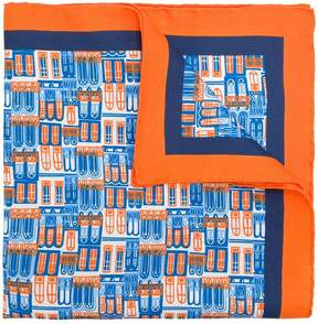 Kiton windows print scarf