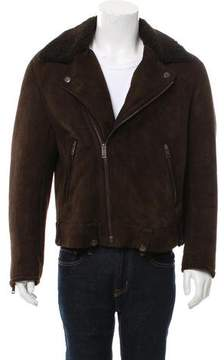 Gucci Shearling-Lined Suede Moto Jacket