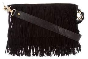 Tory Burch Fringe Shoulder Bag - BLACK - STYLE