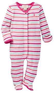 Kate Spade Stripe Cotton Footie (Baby Girls)