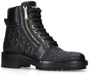 Balmain Leather Army Ranger Boots