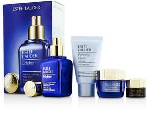 Estee Lauder Skintone/Spot Correction Set: Enlighten Serum 50ml + Creme 15ml + ANR Eye Complex II 5ml + Perfectly Clean 30ml