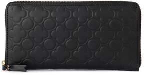 Comme des Garcons Wallet Black Printed Leather Wallet