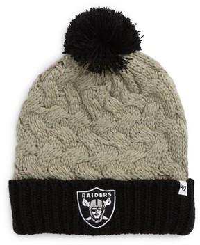 '47 Women's Matterhorn Oakland Raiders Beanie - Grey