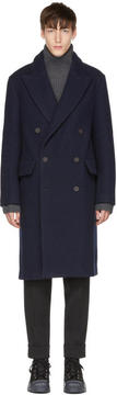 Acne Studios Navy Rover Bouclé Coat