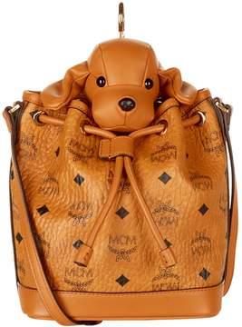 MCM Heritage Drawstring Dog Cross Body Bag