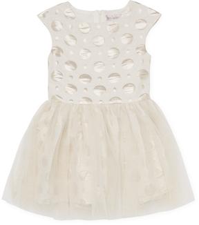 Halabaloo Dot Tulle Overlay Dress