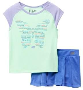 New Balance Skort Set (Toddler & Little Girls)