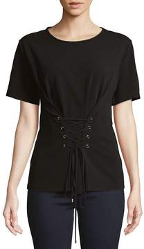 Ellen Tracy Women's Front Lace-Up Top