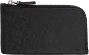 Prada Black Saffiano Zipper Wallet