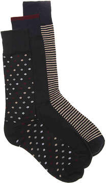 Cole Haan Dot Dress Socks - 3 Pack - Men's