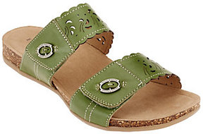 Earth As Is Origins Leather Slide Sandals- Tessa