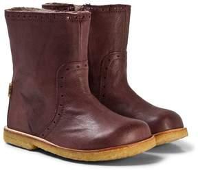 Bisgaard Plum Tall Boots