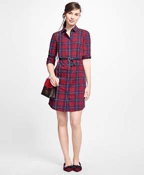 Brooks Brothers Cotton Plaid Shirt Dress