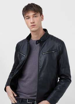 Mango Outlet Zipped biker jacket