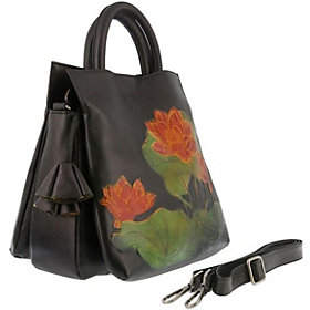 Spring Step L`Artiste Leather Tote - Lilypad