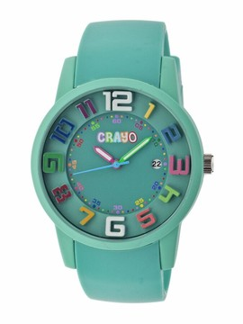 Crayo Festival Teal Dial Teal Silicone Unisex Watch