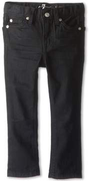 7 For All Mankind Kids - Slimmy Jean in Black Out Boy's Jeans