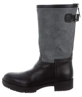 Hermes Shearling-Lined Leather Boots