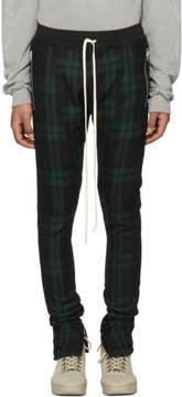 Fear Of God Green Plaid Wool Trousers
