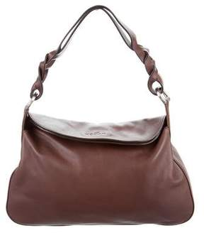 Hogan Leather Fold-Over Bag