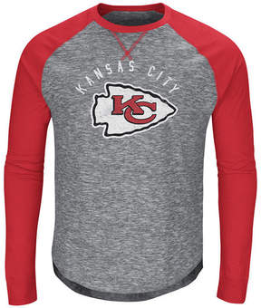 Majestic Men's Kansas City Chiefs Corner Blitz Raglan Long Sleeve T-Shirt