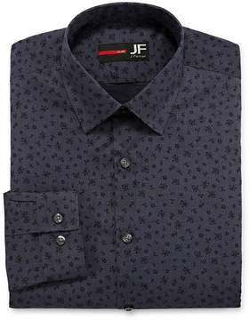 Jf J.Ferrar Easy-Care Solid Big and Tall Long Sleeve Broadcloth Dress Shirt