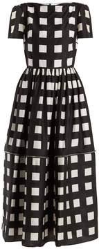 Christopher Kane Zip-hem square-print silk dress