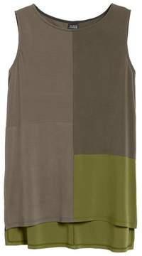 Eileen Fisher Women's High/low Silk Jersey Shell