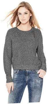 GUESS Metallic Destroyed Sweater