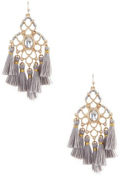 Anna & Ava Sunshine Tasseled Statement Drop Earrings