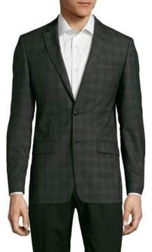 John Varvatos Plaid Woolen Jacket