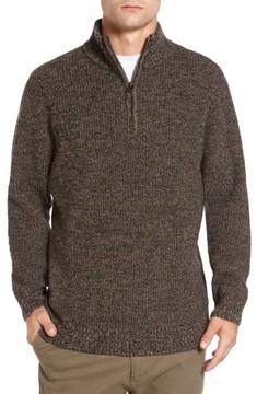 Rodd & Gunn Men's 'Woodglen' Herringbone Knit Lambswool Quarter Zip Sweater