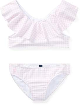 Ralph Lauren Gingham Two-Piece Swimsuit