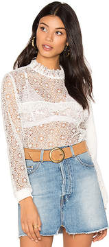 Anine Bing Lace Ruffle Top