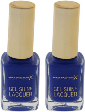 Max Factor Glazed Cobalt Gel Shine Nail Polish - Set of Two