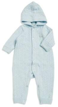 Little Me Baby Boy's Hooded Cotton Coverall