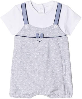 Mayoral Grey Dungaree Effect Romper