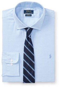 Ralph Lauren Slim-Fit Stretch Oxford Shirt 1028A Light Blue/White 18